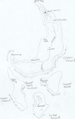 The rough-draft map of the Broken Tear